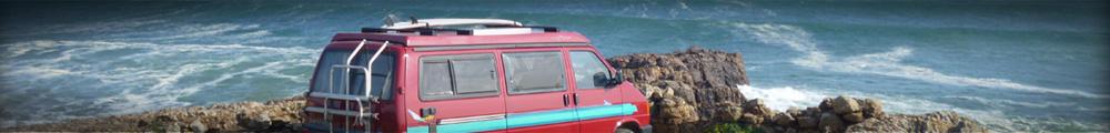 Portugal in Urlaub am Strand machen - Mit dem Bus am Strand campen